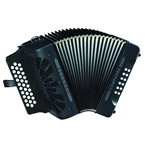 Hohner Button Accordion Compadre GCF, 기가 가방 및 스트랩..