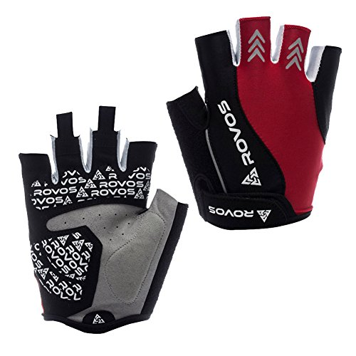 rovos-womens-sports-new-style-professional-training-biking-riding-gloves-cycling-accessariesreds