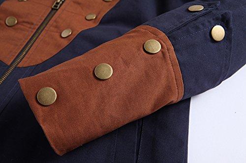 Chaqueta hombre YYZYY para Navyblue chaqueta qZCwC0f
