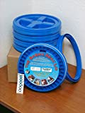 Gamma Seal Lid, Blue, 5 Pack - New! - Boxed! - 5 Gallon Bucket Lids (Fits 3.5, 5, 6, & 7 Gal.) Storage Container Lid