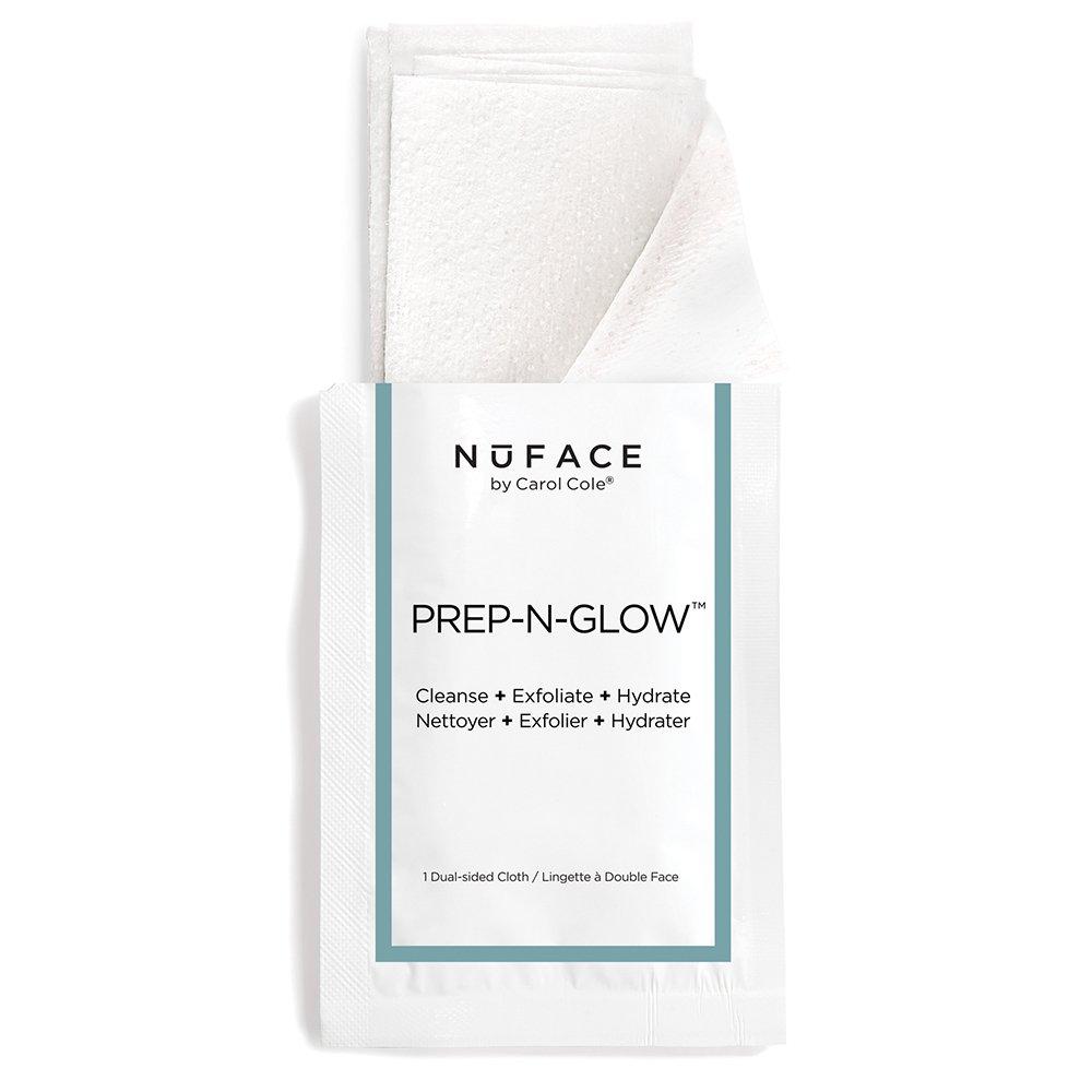 NuFACE Prep-N-Glow Limpieza Paños Elimina la Suciedad de Aceite y Maquillaje - Paquete de 20: Amazon.es: Belleza