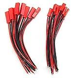 10 Paar 100mm JST Stecker Buchse mit Kabel Draht männlich und weiblich für RC BEC Lipo Akku