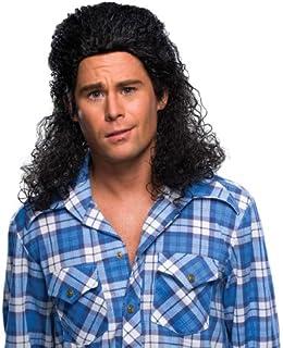 Amazon.com: TV Store Fluffy Blue Adult Costume Wig: Clothing