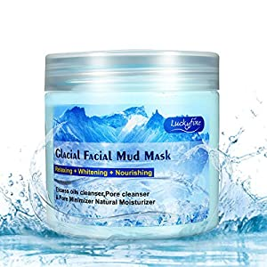 Glacial Facial Mud Mask, LuckyFine - Contains Ice Crystal Grains Deeply Cleanse Moisturizing Shrink Pores Conditioning Soothe the Skin,Repair After-sun Mask