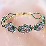 Miyuki DKIT-43 Violet Purple Flower DIY Glass Bead Bracelet Kit