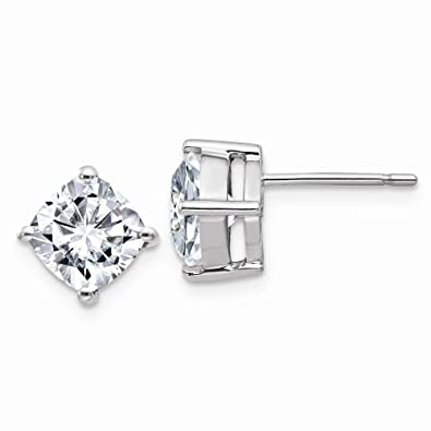 34005caf1 Amazon.com: 14K White Goldw 3.50ct. 7.00mm Cushion Colorless ...
