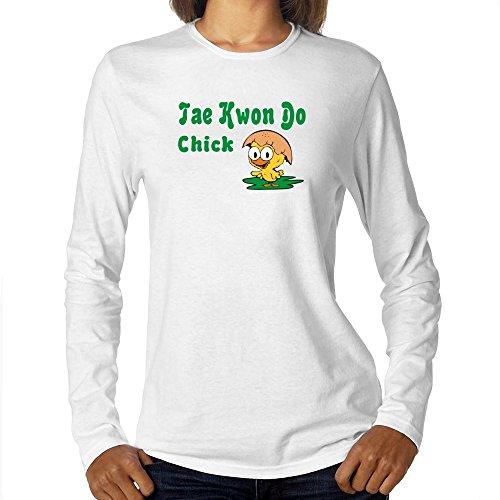 (Eddany Tae Kwon Do chick Women Long Sleeve T-Shirt)
