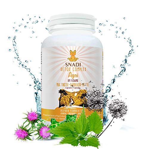 Agni Vegetable Capsules of Milk Thistle, Dandelion Root, and Nettle Leaf I 120 Capsules – 600 mg I Liver Support, Liver…