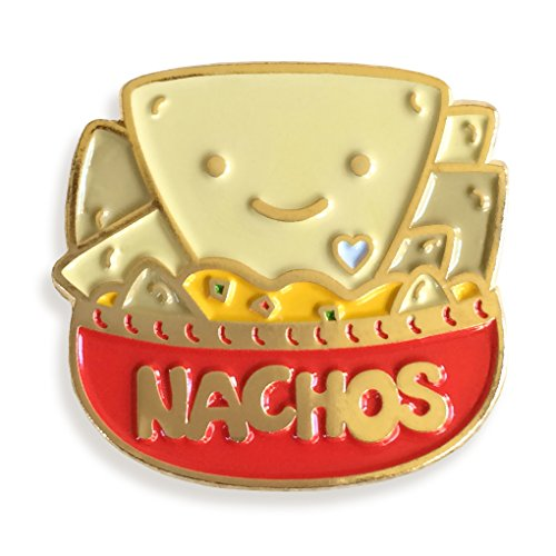 Night Owl Paper Goods Nacho Lover Enamel Pin for sale  Delivered anywhere in USA
