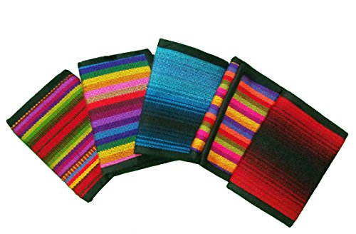 Authentic Guatemalan Tri-fold Wallet with Zip-up Coin Pocket