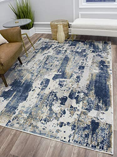 CosmoLiving Serenity Collection Area Rug, 8 0 x10 0 , Sapphire Blue