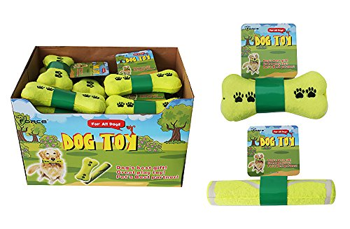 Diamond Visions 01-1110 Bone or Stick Dog Toy MultiPack in Tennis Ball Yellow (2 Bone Shaped Toys)