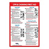 CPR & Choking First Aid Instructions Poster - Infant, Child, and Adult - NON-laminated - 12 x 18 in.