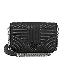Prada Nappa Leather Shoulder Bag Black