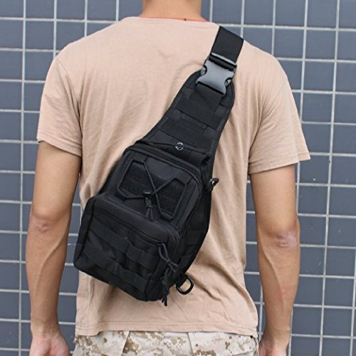 Outdoor Tactical Shoulder Backpack, AGPtek Military & Sport Bag Pack Daypack for Camping, Hiking, Trekking, Rover Sling