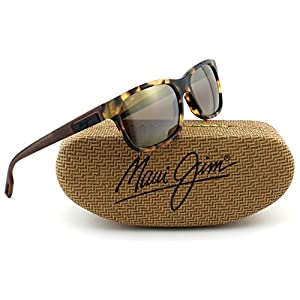 Maui Jim Eh Brah Unisex Polarized Sunglasses (Tokyo Tortoise Frame, HCL Bronze Lens H284-10L)