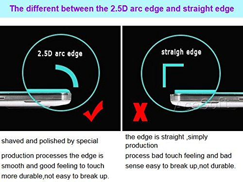 Full Coverage 9H Hardness Scratch Resistant Anti-Shatter 2.5D Rounded Edges Tempered Glass Screen Protector [Easy to Install] for Samsung Galaxy J3 V SM-J320V Verizon Android phone by SodaPop (Image #3)