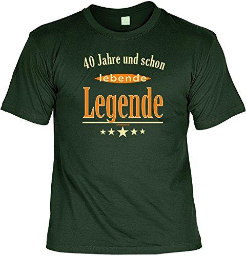 T-Shirt - 40 Jahre und schon lebende Legende - lustiges Sprüche Shirt als Geschenk für Geburtstagskinder mit Humor