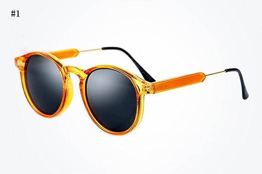 Générique Flashing- Elégant rondes lunettes de soleil rétro lunettes de soleil de mode à la mode des lunettes de soleil femmes visage de réparation des lunettes de Artefact (Couleur : #3) GRRnl