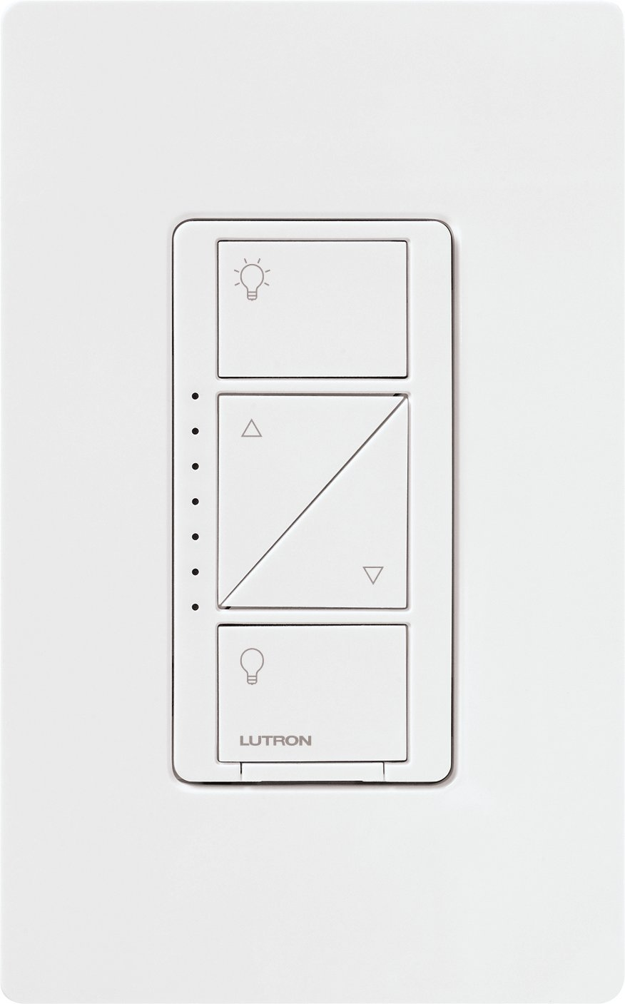 Lutron Caseta Wireless Smart Lighting Dimmer Switch and Remote Kit for Wall & Ceiling Lights, P-PKG1W-WH, White, Works with Alexa, Apple HomeKit, and the Google Assistant by Lutron (Image #2)