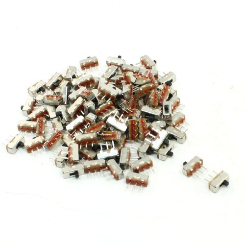 100  pc Mini on/off 3  Pin SPDT PCB DC 50  V 0.3  A Slide Switch 8  mm x 3  mm DealMux