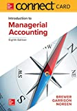 img - for Connect Access Card for Introduction to Managerial Accounting book / textbook / text book