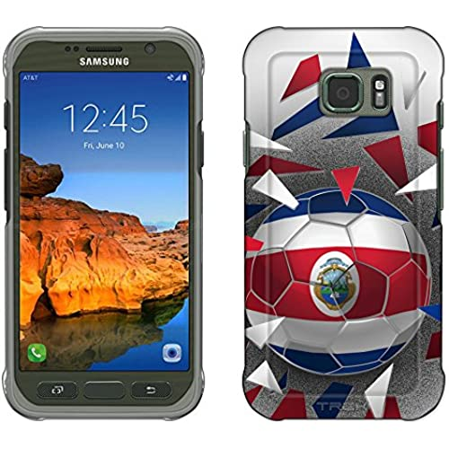 Samsung Galaxy S7 Active Case, Snap On Cover by Trek Soccer Ball Costa Rica Slim Case Sales
