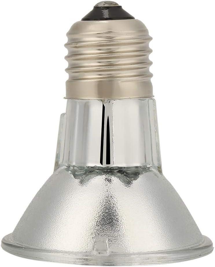 Fdit Socialme-EU E27 220V Reptil f/ür Haustiere Halogenlampen Heizungslampe Vollspektrum UVA UVB Lampe