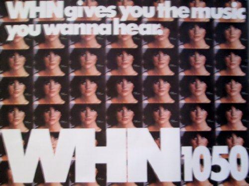 POSTER-LINDA RONSTADT ORIGINAL 1980 WHN PROMO POSTER 45 1/2