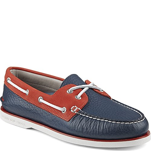 Sperry Top-sider Gold Cup Original Båt Sko Marin / Röd