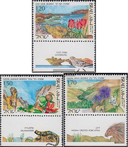 Israel 1252-1254 with Tab (Complete.Issue.) 1993 Naturreservate in Israel (Stamps for Collectors) Plants -