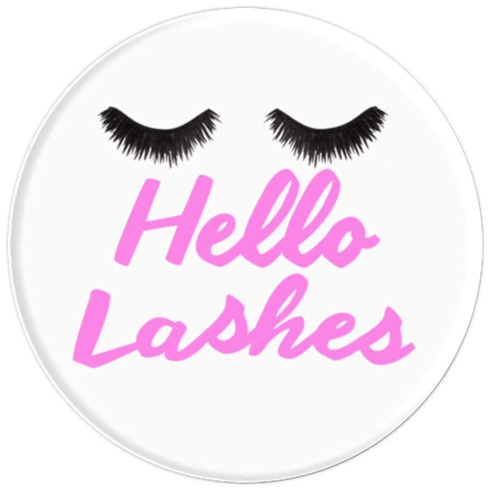 Amazon.com: Lashes Eyelash Extensions Esthetician Hello Lashes - PopSockets Grip and Stand for Phones and Tablets: Cell Phones & Accessories