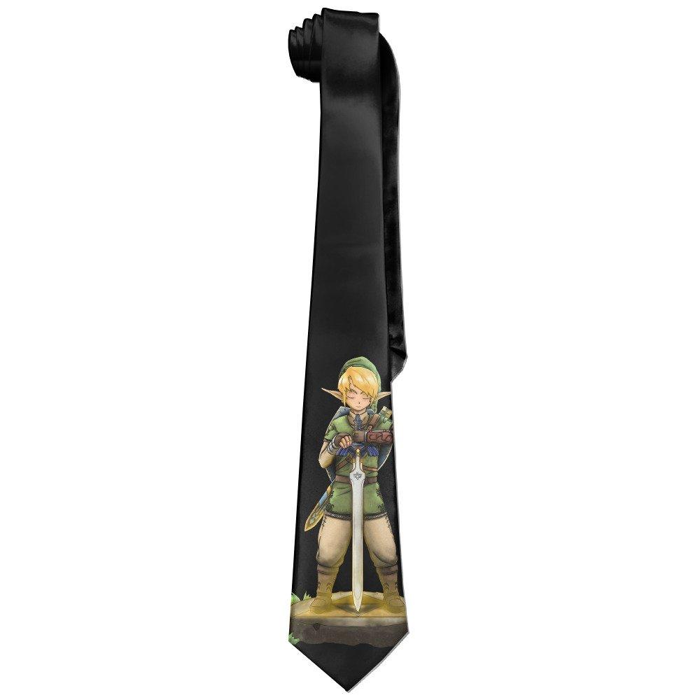 AoMooQ The Legend Of Zelda Men's Skinny Tie Trendy Necktie Ties