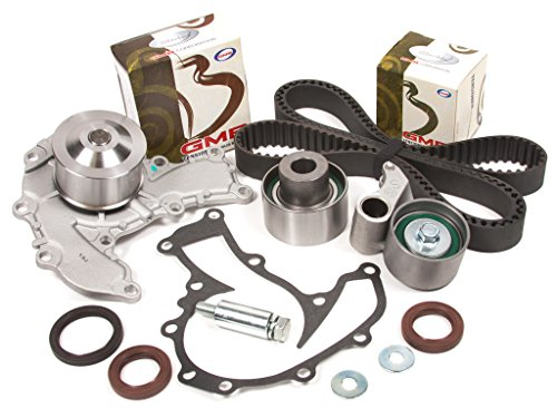 Evergreen TBK221WPT Fits Acura SLX Honda Isuzu Rodeo Trooper 3.2L 6VD1 SOHC Timing Belt Kit Water Pump