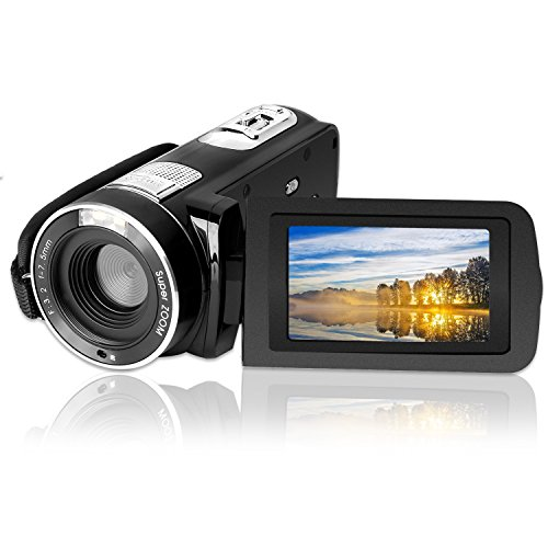 Digital Video Camcorder, GordVE HD 1080P Video Camera Vlogging Camera 16MP 3.0 Inch LCD 270 Degrees Rotatable Screen 16X Digital Zoom