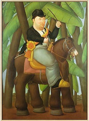 NOVELOVE Cuadro Famoso Hombre montado en un Caballo Carteles Pinturas en Lienzo Arte de la Pared Impresiones Reproducciones de Arte Regalo Decoración para el hogar (Sin Marco) 40 * 65cm