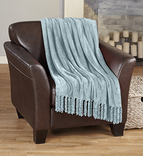 Ultra Velvet Plush Super Soft Blanket in Solid Colors. Light