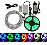 Green LongLife 8080109 Programmable RGB Multi-color 16.4 FT LED Light Strip Kit w/ Remote Control