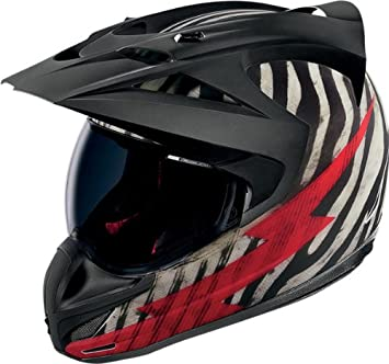 48f971e7 Icon Variant Big Game Adventure Touring/Dual-Sport Motorcycle Helmet - Zebra,  XXX-Large, Helmets - Amazon Canada