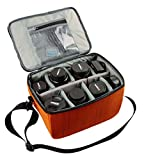i-graphy Muti-function DSLR Camera Insert Case for Canon, Nikon, Sony, Olympus, Pentax,Fuji (Orange)