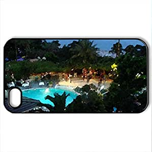 lintao diy Azak Hotel, Turkey, Alanya - Case Cover for iPhone 4 and 4s (Houses Series, Watercolor style, Black)