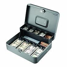 STEELMASTER, Contenedor de dinero, cuadrado, gris, 2216194G2