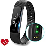 REDGO ID115 fitness tracker with heart rate monitor
