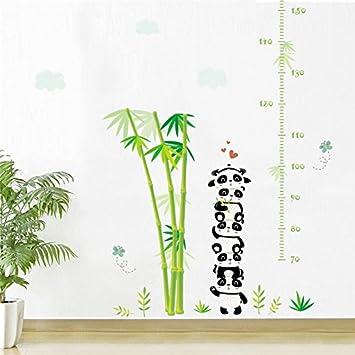 Weaeo Tiere Panda Bambus Bambus Schmetterling Hohe Messen Chart Wand