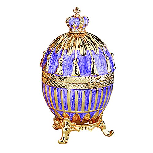 Design Toscano Tassel Romanov Style Collectible Enameled Egg, 3 Inch, Pewter, Purple and Gold