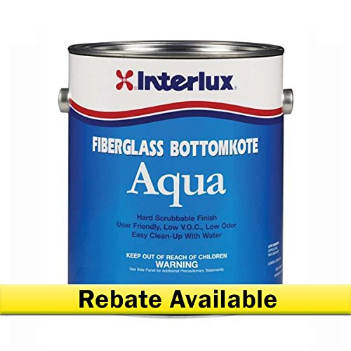 (Interlux YBA579/QT Fiberglass Aqua Antifouling Paint (Black, Quart), 128. Fluid_Ounces )