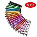 LIBERRWAY Stylus Pen 20 Pack of Pink Purple Black Green Silver Stylus Universal Touch Screen Capacitive Stylus for Kindle Touch ipad iphone 6/6s 6Plus 6s Plus Samsung S5 S6 S7 Edge S8 Plus Note