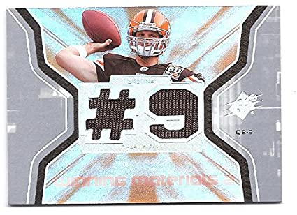 CHARLIE FRYE 2007 SPX Winning Materials  WMCF Jersey Number DUAL GAME-USED  JERSEY Card e438c20ad