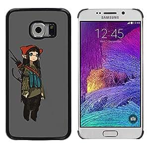 LECELL--Funda protectora / Cubierta / Piel For Samsung Galaxy S6 EDGE SM-G925 -- Girl Fairy Anime Ears Long Art Japanese --
