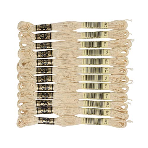 DMC 6-Strand Embroidery Cotton Floss, Ultra Very Light Tan
